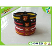 China Promotion Gifts Silicone Balance Bracelet Double Color M Medal on sale