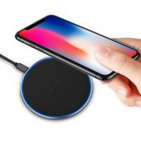 Best ABS+Aluminum Super Slim QI Certified Fast Charging Portable Wireless Charger 10W/7.5W/5W wholesale