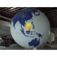 Best Fireproof Large Earth Balloons Globe for Weather service , Inflatable Ground Balloon wholesale
