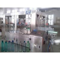 Best 6000BPH 500ml Automatic Bottle Filling Machine , 18-18-6 Rinser Filler Capper Machine wholesale