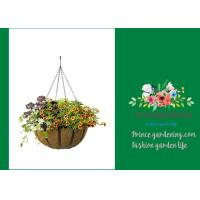 Best Garden Palm Hanging Flower Baskets , Outdoor Hanging Pots For Plants wholesale