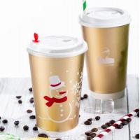 China Hot Drink Disposable Paper Cup 16 Oz With Lids And Straws Light Weight on sale