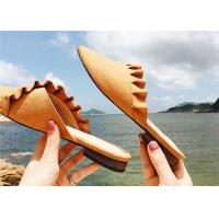 Best Low Heel Comfortable Clogs And Mules Supper Fiber Upper With Ruffles Around wholesale