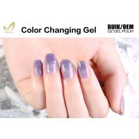Best Unharmful Ingredients Colour Changing Gel Nail Varnish , UV Led Gel Polish No Odor wholesale