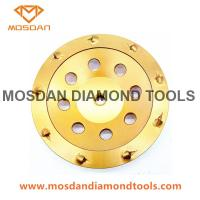 Buy cheap 180mm Diamond PCD Grinding Cup Wheels with 9x1308 PCDs from wholesalers