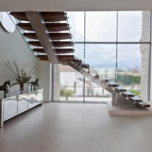 Cheap Australia Design Mono Stringer Staircase Beautiful Straight Custom Size for sale