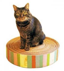 Best Luxury Corrugated Cardboard Cat Scratcher Cat Sporting Toys / Ramp , Glossy Lamination wholesale