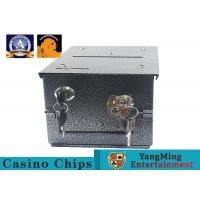 China Fireproof Official Casino Poker Chip Lockable Cash Box Set With Gaming Poker Table on sale