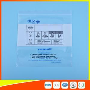Best Transparent Airtight Ziplock Plastic Bag For Medicine Tablet Custom Printed wholesale