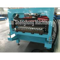 China Double Press Glazed Tile Roll Forming Machine With Transmission Chain on sale