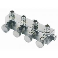 Best High Durability Airbrush Spare Parts , 4 Way Airbrush Manifold Replacement A9-4 wholesale
