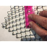 Best Light Weight Conventional Wire Mesh Conveyor Belt / Chain Link Fencing wholesale