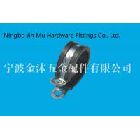 Quality Stainless Steel R Type Gas Hose Clamps With Rubber Bandwidth 12mm Size 18mm wholesale