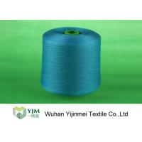 China Professional Plastic Cone Polyester Yarn Dyeing , Dyed Color 100% Polyester Spun Yarn on sale