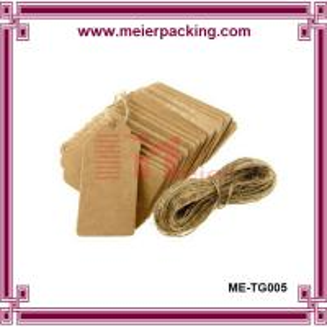 Best Custom brown kraft paper hangtags for men shoes ME-TG005 wholesale