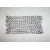 Best 8*8inch Stainless Steel ChainmaIl Scrubber With Sqaure  Used For Pan Cleaning wholesale