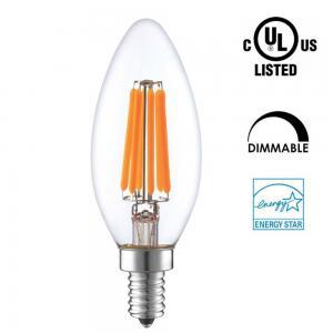 Best Candle Shaped LED Energy Saving Light Bulbs , C35 LED Candelabra Bulbs E12 E14 Socket wholesale