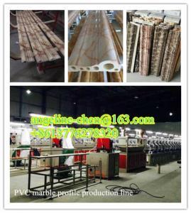 Best cheap good quality decorative PVC marble profile making machine/production line/equipment wholesale