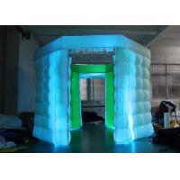 Best 2 Doors Inflatable Photo Booth Kiosk Diamond Shape With Air Blower wholesale