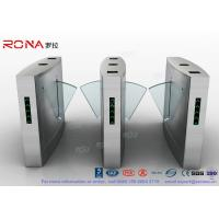 Cheap Flap Barrier Gate Organic Glass Retractable RFID Card Reader Counter Speed Gate for sale