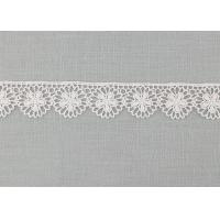 China Floral Venice Lace Trims , Vintage White Embroidered Lace Trim For Bridal Dresses on sale