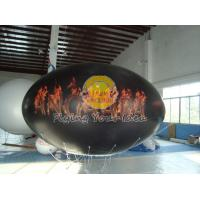 Best Waterproof and Fireproof Black 0.18mm PVC Oval Balloon with Total Digital Printing wholesale