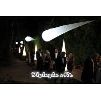 Best 3m Hanging Party and Wedding Decoration Inflatable Light Cone for Dinner Night wholesale