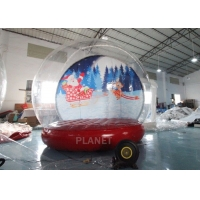Best 4M 5M Inflatable Bouncing Snow Globe Photo Booth With Blower wholesale