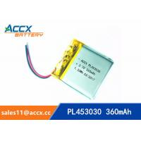Best High Capacity Cell 453030 503030 603030 Lithium Polymer Battery with 3.7 V 360mAh pl453030 wholesale