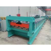 China PPGI Floor Deck Roll Forming Machine Concreate With Embossing Rollers For 1.2mm Thickness on sale