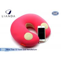 Best Natural Music Sound Vibrating Massage Neck pillow with speaker , Memory Foam materials wholesale