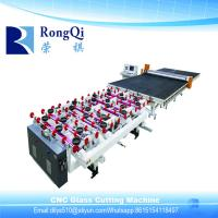 Best CNC Automatic Special Shapes Glass Cutting Line with Glass Breaking Table wholesale