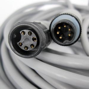 Best Customized PVC 6 Pin Din Waterproof   Power Cord Plug Socket wholesale