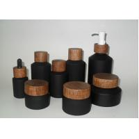 Best Eco Friendly Durable Black Cosmetic Bottles For Facial Cream Skin Care Product wholesale