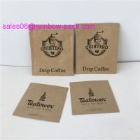 Best PE Coated Ziplock Packing Bags Paper Sachet Pouch Customized Size Kraft Bags For Coffee / Tea / Snack wholesale