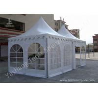Best Hard Aluminum Framed Wind Resistance High Peak Tents Soft Pvc Fabric Cover wholesale
