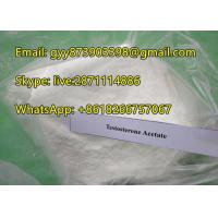China Testosterone Acetate Muscle Building Steroids With White Powder Appearance on sale