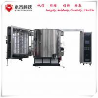 China Plastic Cosmetic Bottles Caps Thermal Evaporation Coating Unit Coating , PVD Metalizing Brilliant Colors on sale