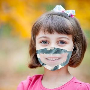 Best Reusable PET cloth visible mouth mask lip language face mask for deaf dumb people wholesale