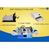 Quality 4432 Stencil Printer + Chmt48vb Table Top Pick And Place + T962A Reflow Oven , small Smt Line wholesale