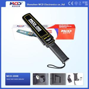 China Vibration Handheld Metal Detector 9v Battery , Audio Alert And Led Indicator on sale