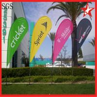 Cheap Interior / Outdoor Teardrop Banners 3kg Cross Feet With 360 Degree Turning for sale