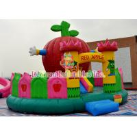 Best Interesting Theme Inflatable Bouncy Castle With Big Red Apple Shape wholesale