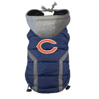 Best Personalized Chicago Bears Dog Puffer Vest Embroidered Logo Pet Pug clothes wholesale