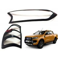 Head Lamp Tail Lamp Bezels and Handle Garnish for 2016 2018 Ford Ranger T7