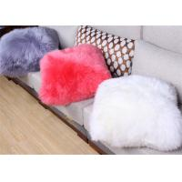 Best Plain Fluffy Hairs Sheepskin Chair Cushion Cortical Delicate With Customized Sizes wholesale