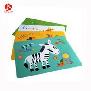 Best Cartoon Animals Zebra Printed Disposable Plastic Placemat wholesale