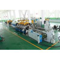 Best PE Double Wall Corrugated Pipe Double Screw Extruder / Pvc Pipe Making Machine wholesale