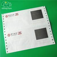 Cheap 3 Ply Pin Mailer Paper , Good Image Carbonless Printer Paper High Surface Smoothness for sale