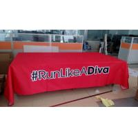 Best Promotional Outside Tension Fabric Displays , Washable Trade Show Table Covers wholesale